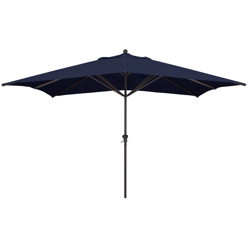 Carlton 11' X 8' Rectangular Market Umbrella Intended For Current Zadie Twin Rectangular Market Umbrellas (View 2 of 25)