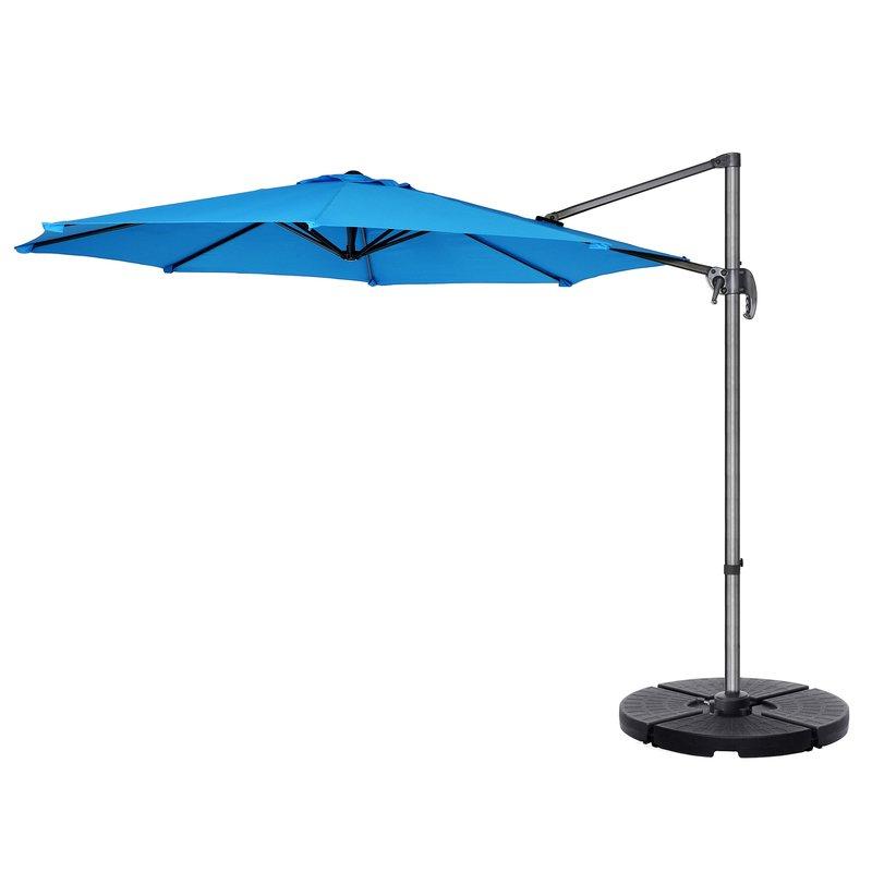Cockermouth Rotating 10' Cantilever Umbrella Regarding Best And Newest Iyanna Cantilever Umbrellas (View 22 of 25)