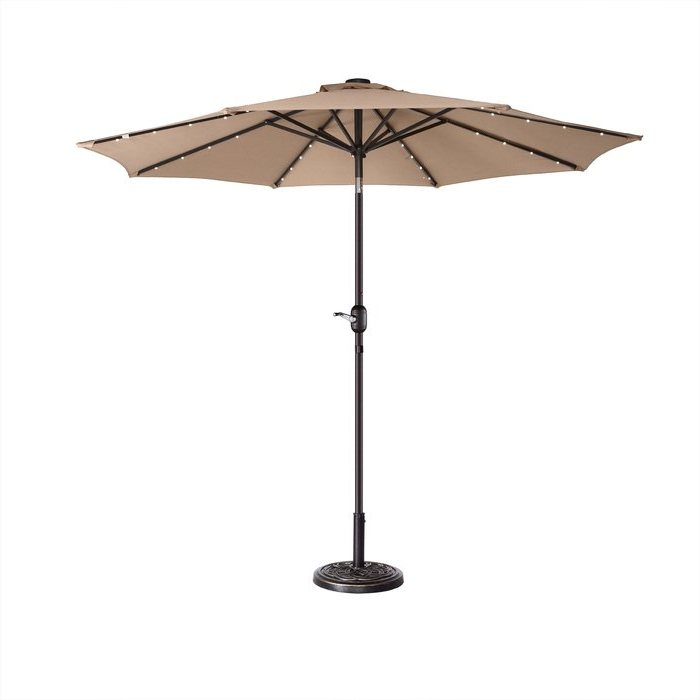 Coggeshall Led Lighted Market Umbrellas Throughout Widely Used Coggeshall Led Lighted 9' Market Umbrella (View 1 of 25)
