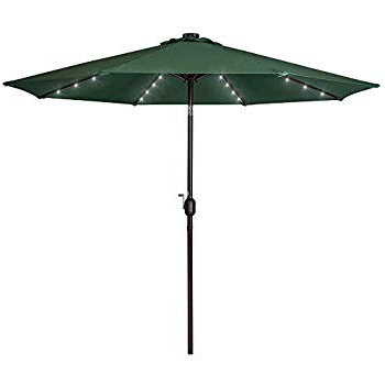 Coggeshall Led Lighted Market Umbrellas With Regard To 2017 Amazon : Tropishade Tropilight Led Lighted 9 Ft Bronze Aluminum (View 12 of 25)