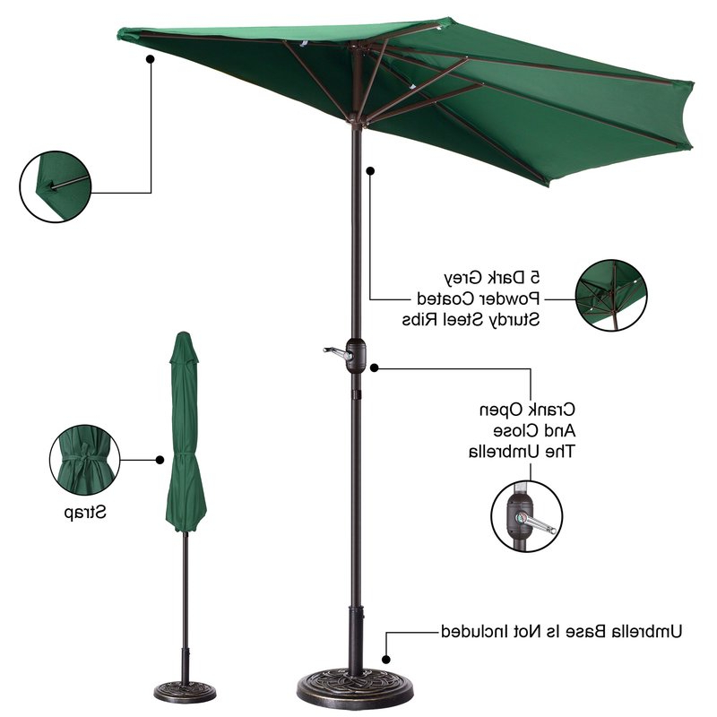 Colburn Half Market Umbrellas Intended For Preferred Colburn Half 9' Market Umbrella (View 7 of 25)