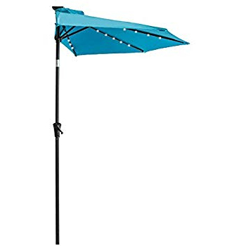 Colburn Half Market Umbrellas With Famous Amazon : Castlecreek 8' Half Round Patio Umbrella, Khaki (View 11 of 25)