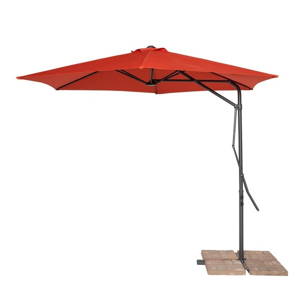 Coolaroo 10' Cantilever Umbrella Terracotta Regarding 2018 Coolaroo Cantilever Umbrellas (View 8 of 25)
