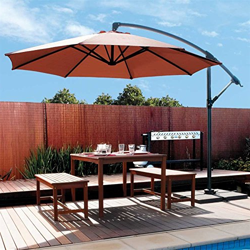 [%Coolaroo 339968, Freestanding Patio, 90% Uv Block, Round Two Position Tilt,  Mocha 10' Cantilever, Adjustable, Shade Umbrella In Latest Coolaroo Cantilever Umbrellas|Coolaroo Cantilever Umbrellas Throughout Well Known Coolaroo 339968, Freestanding Patio, 90% Uv Block, Round Two Position Tilt,  Mocha 10' Cantilever, Adjustable, Shade Umbrella|2018 Coolaroo Cantilever Umbrellas For Coolaroo 339968, Freestanding Patio, 90% Uv Block, Round Two Position Tilt,  Mocha 10' Cantilever, Adjustable, Shade Umbrella|Well Known Coolaroo 339968, Freestanding Patio, 90% Uv Block, Round Two Position Tilt,  Mocha 10' Cantilever, Adjustable, Shade Umbrella With Coolaroo Cantilever Umbrellas%] (View 3 of 25)