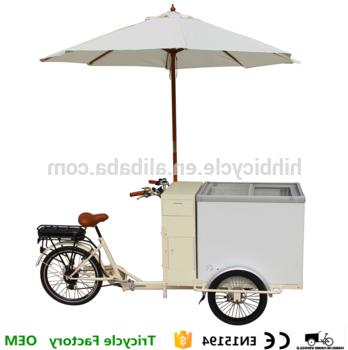 Cooler Cart Umbrella Ice Cream Bike Tricycle For Sale – Buy Cooler Cart,tricycle For Sale,ice Cream Bike Tricycle For Sale Product On Alibaba Within Newest Brame Market Umbrellas (View 16 of 25)