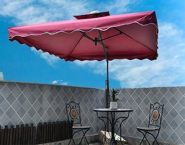 Cora Square Cantilever Umbrellas Throughout Well Known Cantilever Umbrella Reviews – Bioengineers (View 4 of 25)
