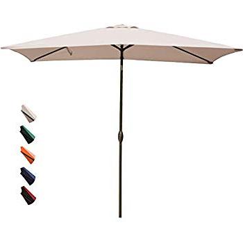 Cordelia Rectangular Market Umbrellas Throughout Latest Amazon : Adriatic  (View 9 of 25)