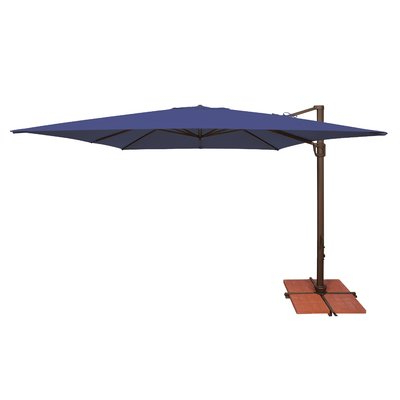 Cordelia Rectangular Market Umbrellas With Most Recent Darby Home Co Windell 10' Square Cantilever Umbrella In  (View 10 of 25)