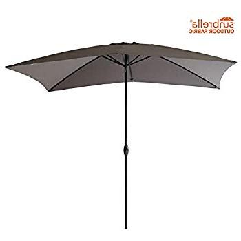 Cordelia Rectangular Market Umbrellas With Regard To Trendy Amazon : Adriatic  (View 14 of 25)
