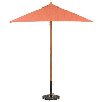 Crowborough Market Umbrellas Within Preferred Amazon : Sunbrella Square 6' Market Umbrella, Dupione Papaya (View 9 of 25)