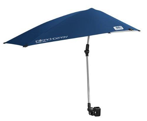 Current Alyson Joeshade Beach Umbrellas Intended For Sport Brella Versa Brella 4 Way Swiveling Sun Umbrella (Midnight (View 11 of 25)