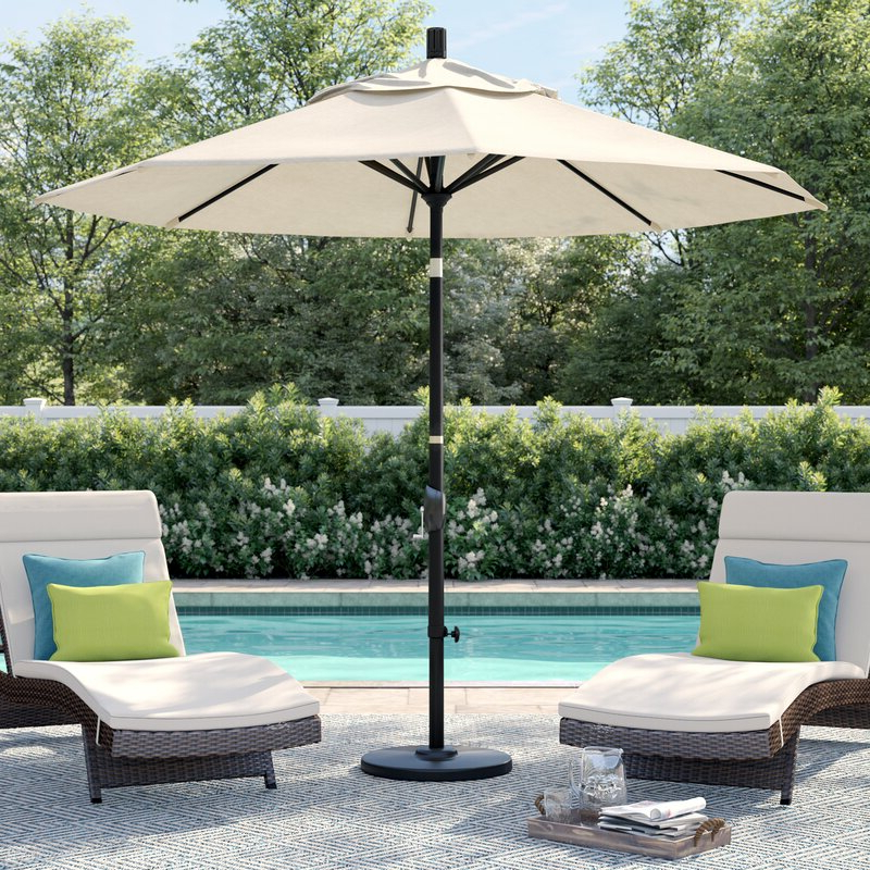 Current Carina 9' Market Umbrella Within Hookton Crank Market Umbrellas (View 18 of 25)