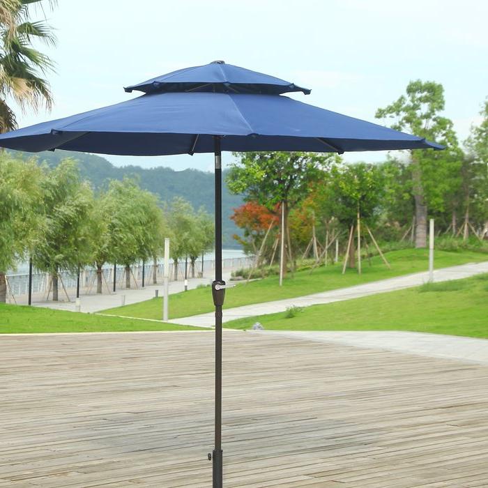 Current Dimond 9' Market Umbrella Throughout Aldan Market Umbrellas (View 18 of 25)