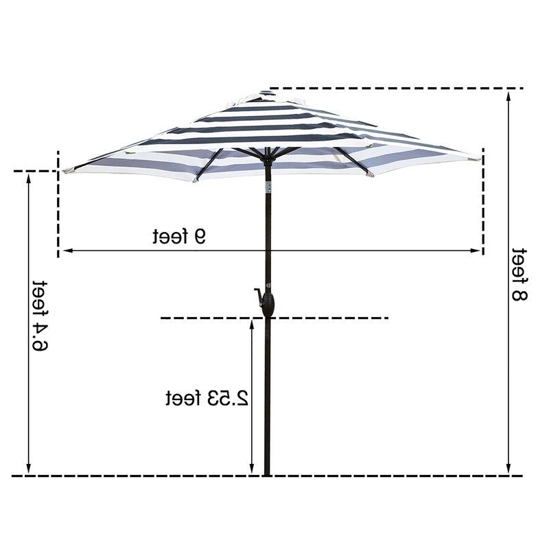 Current Gainsborough Market Umbrellas With Regard To Gainsborough 9' Market Umbrella (View 5 of 25)