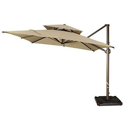 Current Lennie Cantilever Sunbrella Umbrellas Pertaining To Cantilever Patio Umbrella Cover – Dimarlinperez – (View 24 of 25)