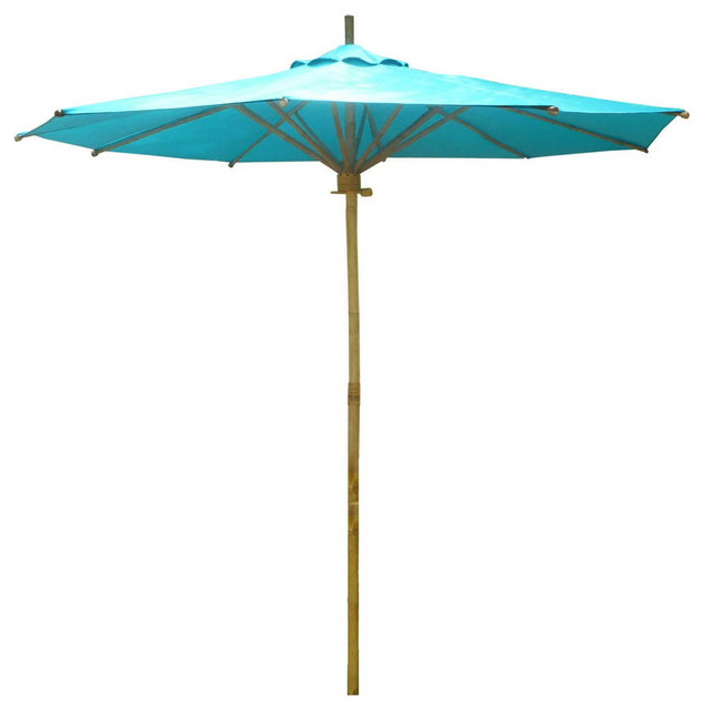 Current Phat Tommy Bamboo 7' Umbrella, Teal Pertaining To Phat Tommy Cantilever Umbrellas (View 24 of 25)