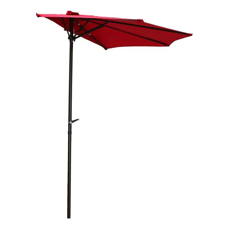 Dade City North Half Market Umbrellas regarding Well-known Dade City North 9' Half Market Umbrella