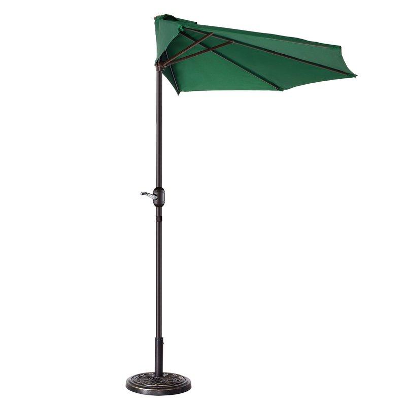 Dade City North Half Market Umbrellas Throughout Popular Colburn Half 9' Market Umbrella (View 19 of 25)