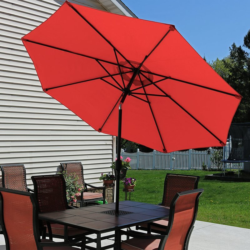 Delaplaine 9' Market Umbrella for Most Popular Delaplaine Market Umbrellas