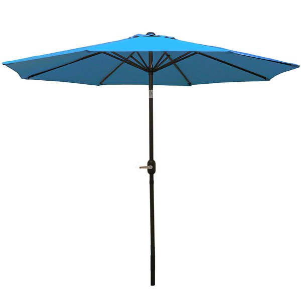 Delaplaine 9' Market Umbrella Within Widely Used Kenn Market Umbrellas (View 16 of 25)