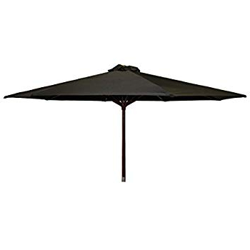 Delaplaine Market Umbrellas inside Most Up-to-Date Amazon : Jordan Manufacturing Us904L-Blk Steel Market Umbrella
