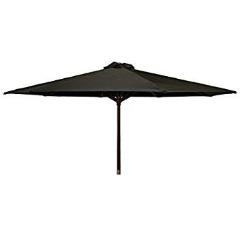 Delaplaine Market Umbrellas Inside Most Up To Date Amazon : Jordan Manufacturing Us904L Blk Steel Market Umbrella (Gallery 24 of 25)