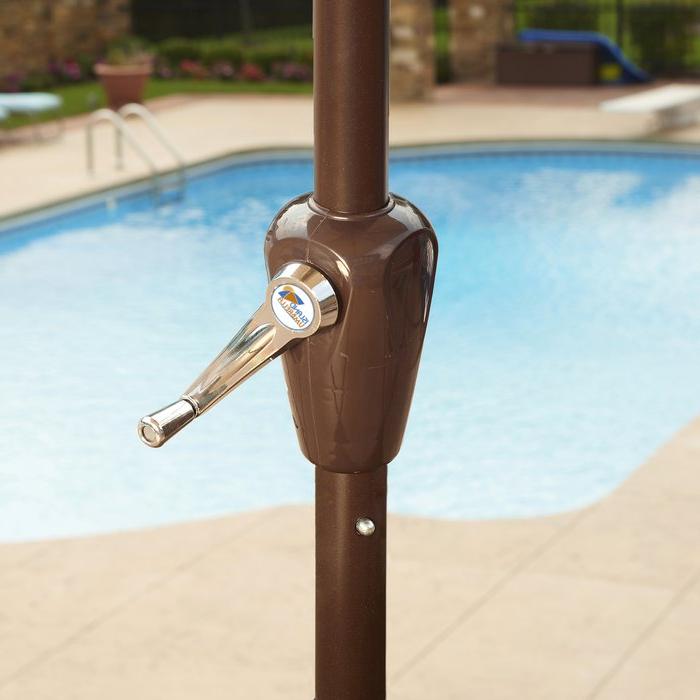 Dena Rectangular Market Umbrellas pertaining to Most Recently Released Dena 10' X 6.5' Rectangular Market Umbrella