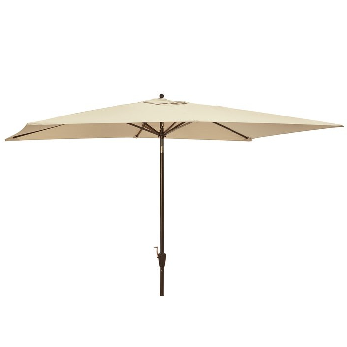 Dena Rectangular Market Umbrellas Regarding Fashionable Dena 10' X 6.5' Rectangular Market Umbrella (Gallery 1 of 25)