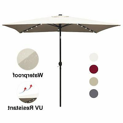 Dena Rectangular Market Umbrellas within Most Popular Outdoor 6.5' X 10' Market Patio Rectangular Umbrella Parasol Yard W