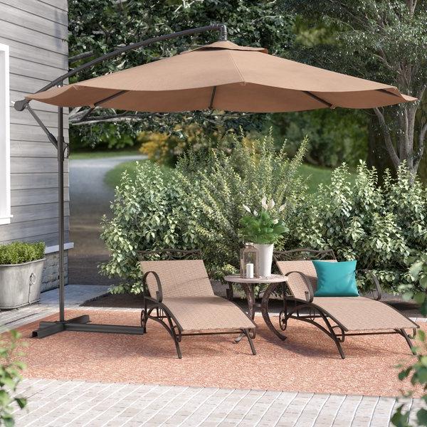 Desmond  Rectangular Cantilever Umbrellas In Popular Corner Umbrella (View 7 of 25)