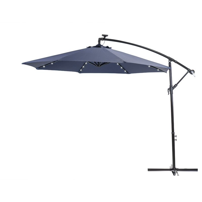 Desmond  Rectangular Cantilever Umbrellas Throughout Best And Newest Sun Ray Solar 10' Cantilever Umbrella (Gallery 4 of 25)