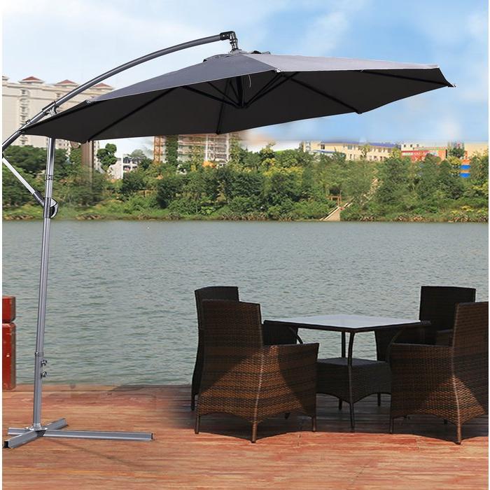 Desmond  Rectangular Cantilever Umbrellas Within Favorite Britton 11' Cantilever Umbrella (View 2 of 25)