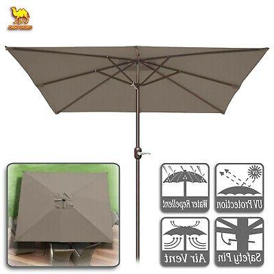 Destination Gear Square Market Umbrellas inside Famous 8'x8' Square Patio Umbrella Deck Outdoor Sunshade Table Market