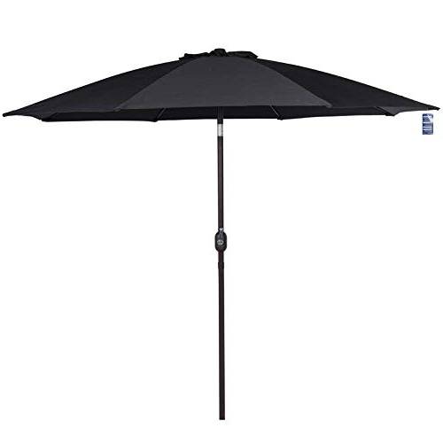 Destination Gear Square Market Umbrellas pertaining to Famous Black Patio Umbrellas: Amazon
