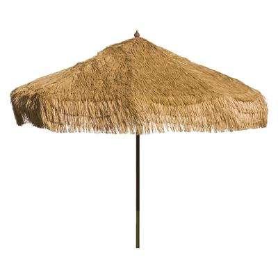 Devansh Drape Umbrellas in Famous Palapa 9 Ft. Wood Drape Patio Umbrella In Whiskey Brown