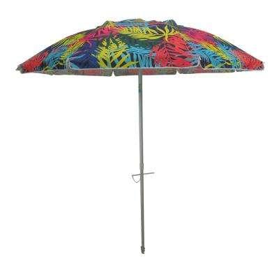 Devansh Drape Umbrellas inside Recent 7 Ft. Aluminum Push-Up Beach Drape Patio Umbrella In Multi-Color Polyester