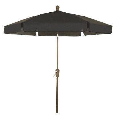 Devansh Market Umbrellas regarding Best and Newest Fiberbuilt 7.5' Leonard Home Garden Tilt Hexagonal Drape Umbrella F