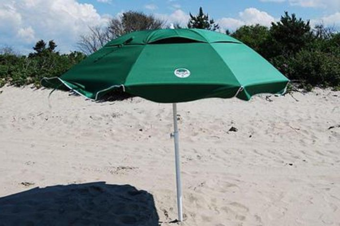 Dig-Git Beach Umbrella W/ Integrated Anchor intended for Preferred Beach Umbrellas