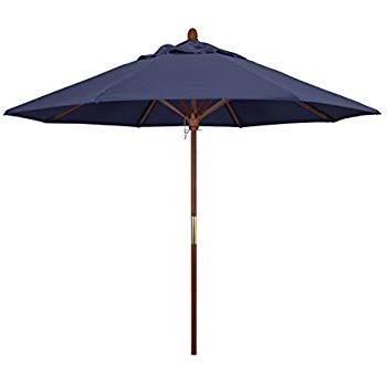 Docia Market Umbrellas with Recent Amazon : 9' Taupe Patio Umbrella - Outdoor Wooden Market