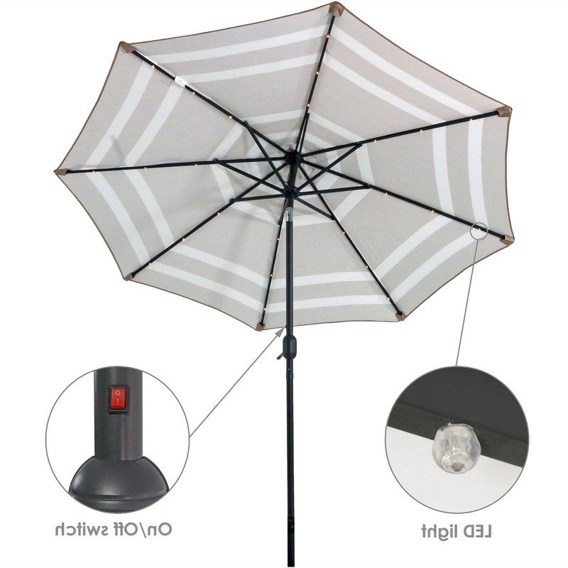 Docia Market Umbrellas with regard to Well-liked Docia 9' Market Umbrella