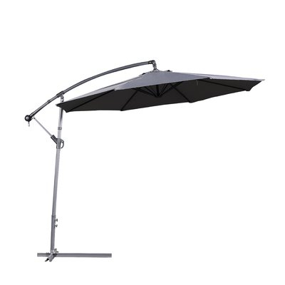 Dore Patio Cantilever Umbrellas inside Preferred Latitude Run Dore Patio 10' Cantilever Umbrella Fabric Color: Dark