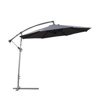 Dore Patio Cantilever Umbrellas Inside Preferred Latitude Run Dore Patio 10' Cantilever Umbrella Fabric Color: Dark (Gallery 1 of 25)