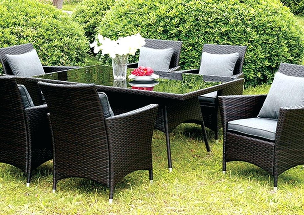 Dore Patio Cantilever Umbrellas With Regard To Fashionable Interesting Glass Top Patio Dining Set Wrought Iron Patio Furniture (View 11 of 25)