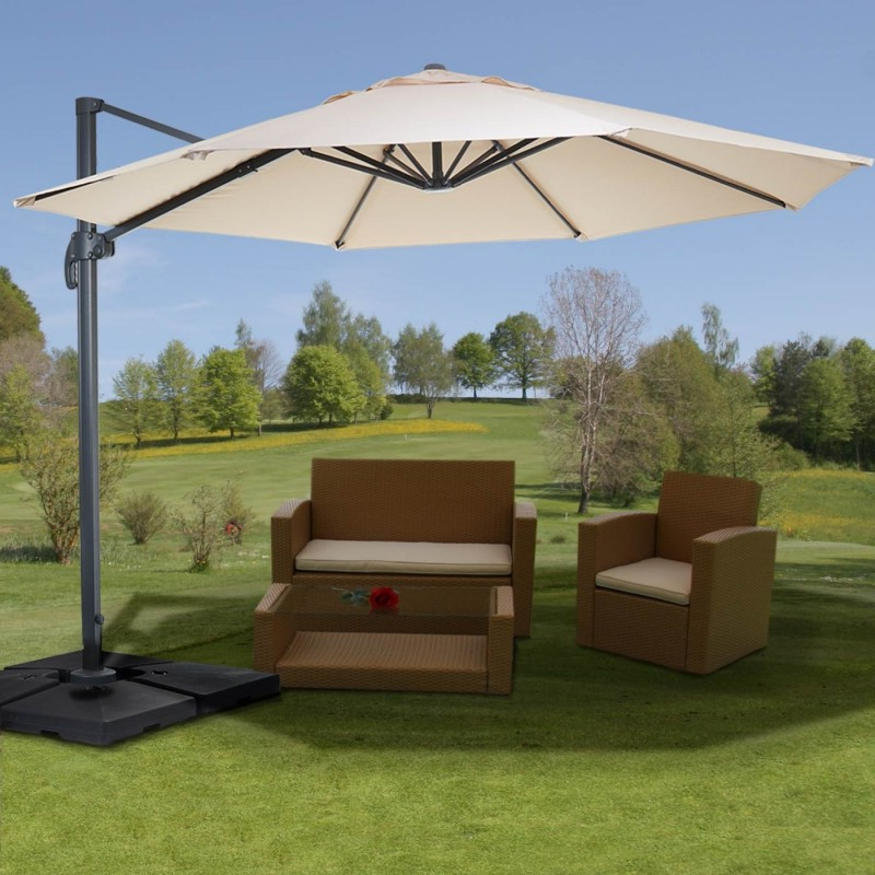 Dore Patio Cantilever Umbrellas within Newest Parasol Alu. Excellent Logoparasol Elements From Alu Profi And