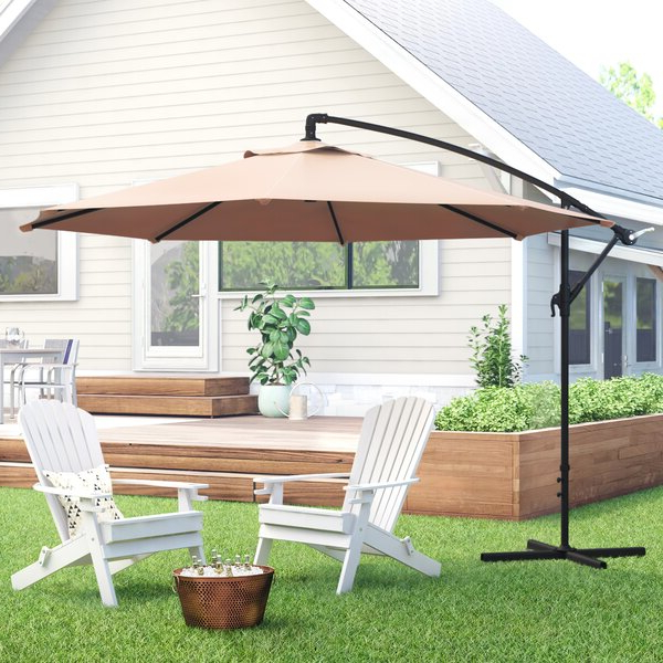 Driskill Hanging Patio 10' Cantilever Umbrella For Most Popular Tilda Cantilever Umbrellas (Gallery 6 of 25)