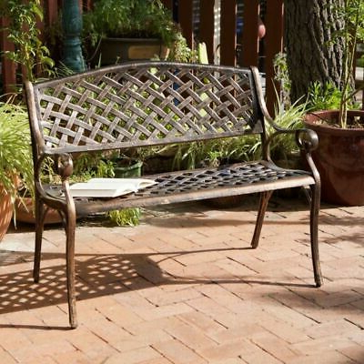 Eastwood Market Umbrellas With Regard To Well Known Details About Eastwood Antique Copper Cast Aluminum Bench (View 11 of 25)