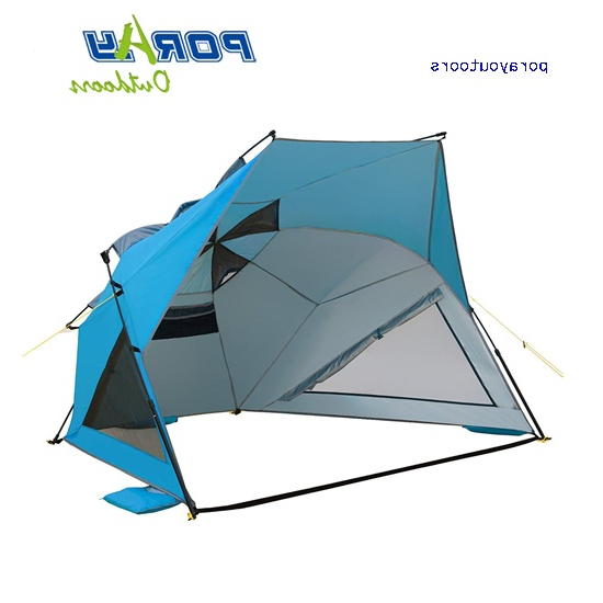 Easy Setup Beach Umbrella Tent Beach Sun Shelter Beach Shade with Most Current Sun Shelter Beach Umbrellas
