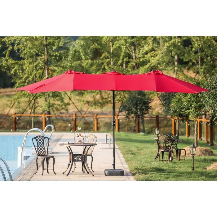 Eisele 9' W X 15' D Rectangular Market Umbrella in Most Current Solid Rectangular Market Umbrellas