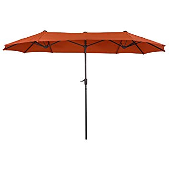 Eisele Rectangular Market Umbrellas In Popular Amazon : Best Choice Products 15' Outdoor Umbrella Double Sided (View 20 of 25)
