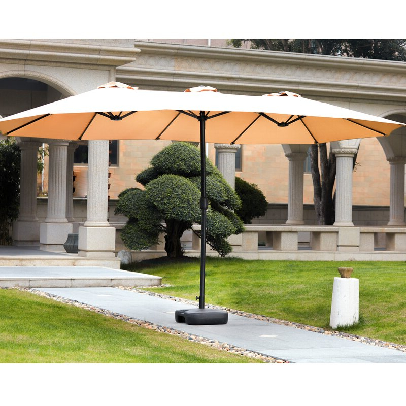 Eisele Rectangular Market Umbrellas Intended For Most Recently Released Eisele 9' W X 15' D Rectangular Market Umbrella (Gallery 5 of 25)